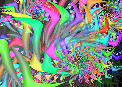 Digital Art - Ornament Complex Remix One by Vitaly Mishurovsky
