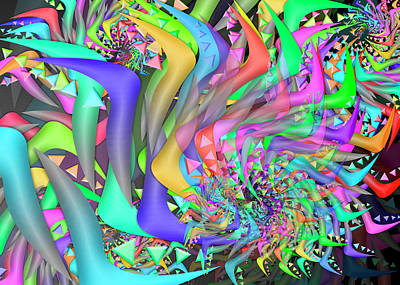 Digital Art - Ornament Complex Remix by Vitaly Mishurovsky