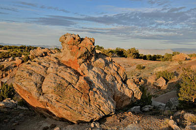 Photograph - Ornate Boulder In Bentonite Site On Little Park Road by Ray Mathis
