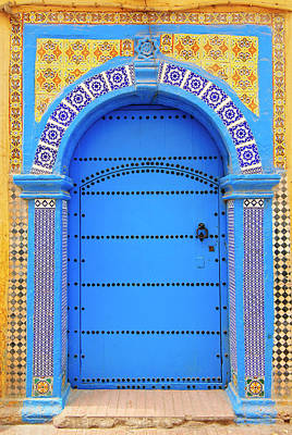 Photograph - Ornate Moroccan Doorway, Essaouira by Andrea Thompson Photography