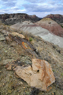 Photograph - Ornate Rocks On Ancient Volcanoes In Grand Junction Co by Ray Mathis