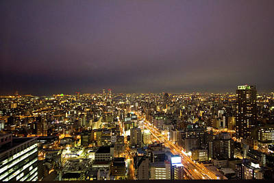 Photograph - Osaka Skyline by Alex Barlow