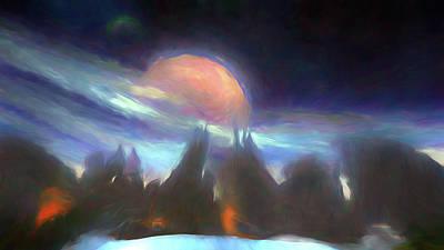 Digital Art - Other Worlds II by Jason Fink