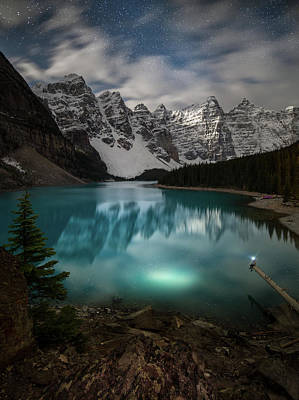 Photograph - Otherworldly / Moraine Lake, Alberta, Canada by Nicholas Parker
