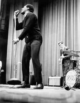 Music Photograph - Otis Redding At Hunter College by Michael Ochs Archives