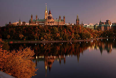 Ottawa At Dusk Art Print