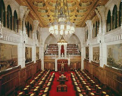 Ottawa Photograph - Ottawa Senate Chamber by Archive Photos