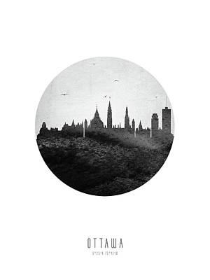 Digital Art - Ottawa Skyline CAONOT04 by Aged Pixel