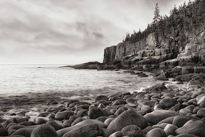 Watercolor Alphabet Rights Managed Images - Otter Cliff in Black and White Royalty-Free Image by Jerry Fornarotto