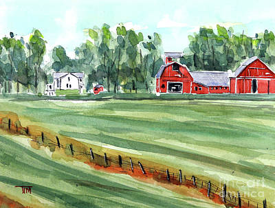 Painting - Our Barning Memories by Tim Ross