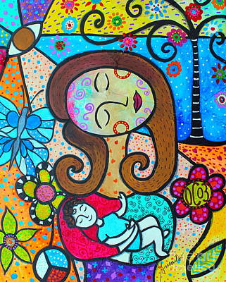 Painting - Our Circle Of 3 And Mee by Pristine Cartera Turkus