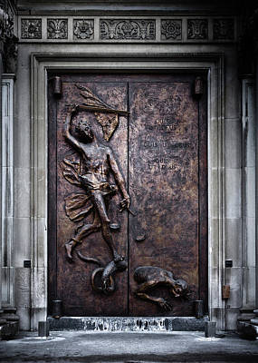 Photograph - Our Lady Of Sorrows Doorway Color Version by Brian Carson