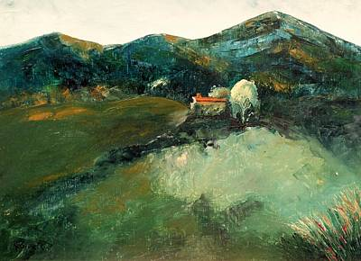 Painting - Our Tuscan Villa View by Kim Shuckhart Gunns