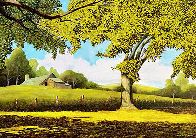 Painting - Out At The Farm by Douglas Castleman