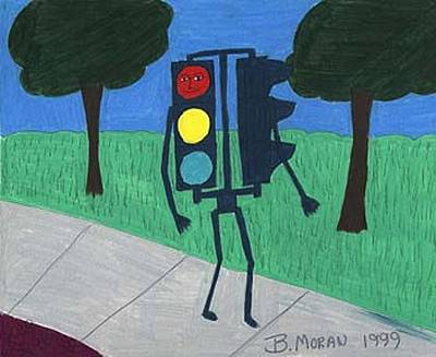 Drawing - Out For A Walk by Barb Moran