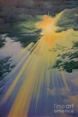 Painting - Out Of Darkness His Light Shall Shine by Cheryl Fecht
