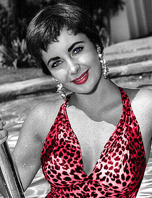 Photograph - Out Of The Pool Elizabeth Taylor 746 by Ericamaxine Price