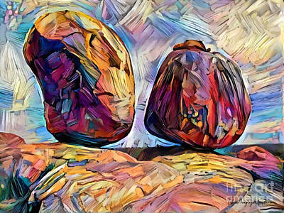 Digital Art - Outback Devils Marbles by Chris Armytage