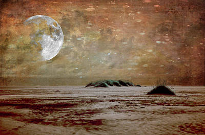 Digital Art - Outer Banks Moon Fx by Dan Carmichael