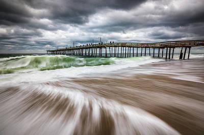 Photograph - Outer Banks Nc North Carolina Beach Seascape Photography Obx by Dave Allen