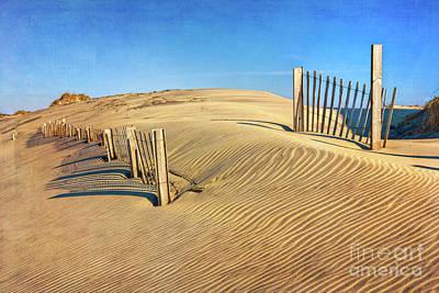 Photograph - Outer Banks Sand Dune Fence by Dan Carmichael