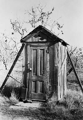 Photograph - Outhouse On A Farm by Bettmann