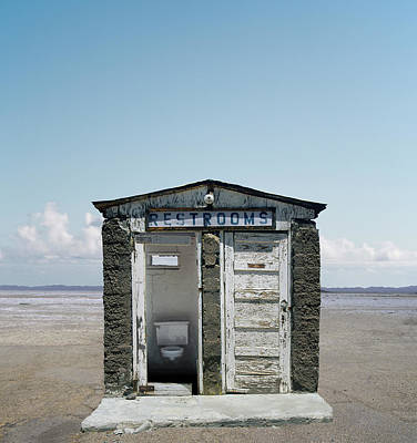 Open Photograph - Outhouse On Beach, Close-up by Ed Freeman
