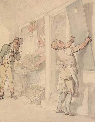 Drawing - Outside The Greengrocer's Shop by Thomas Rowlandson