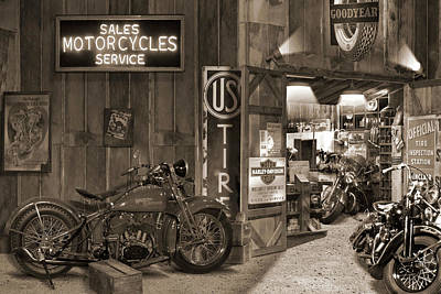 Photograph - Outside The Motorcycle Shop Sp by Mike McGlothlen