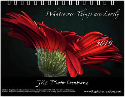 Photograph - Cover Inspirational 2019 Calendar Preview by Joni Eskridge
