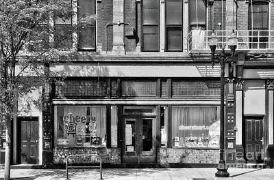 Photograph - Over The Rhine In Cincinnati # 4 Black And White by Mel Steinhauer