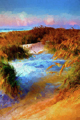Painting - Over The Sand Dunes Ap by Dan Carmichael