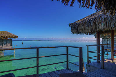 Photograph - Over The Water Bungalow French Polynesia by Scott McGuire