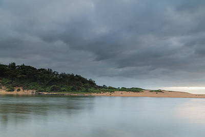 Photograph - Overcast And Heavy Clouds - Dawn At The Lagoon by Merrillie Redden