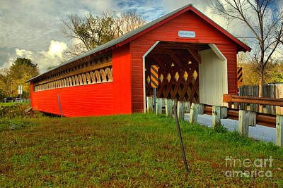 Photograph - Overcast At The Papermill Covered Bridge by Adam Jewell