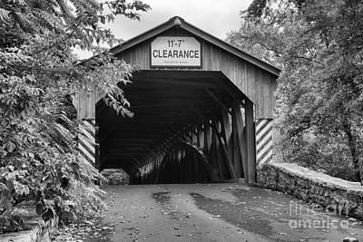 Photograph - Overegrown At The Academia Covered Bridge by Adam Jewell