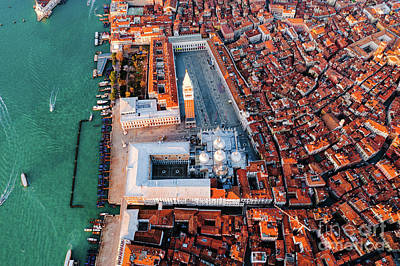 Photograph - Overhead Of St Mark's Square, Venice, Italy by Matteo Colombo