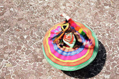 Traditional Clothing Photograph - Overhead View Of A Mestiza Cuzquena by Gavin Hellier / Robertharding