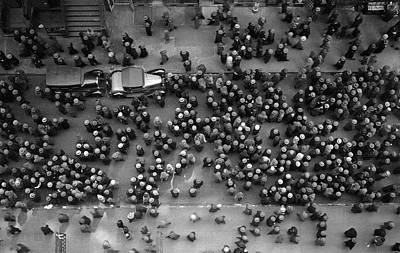 Photograph - Overhead View Of Men Milling About On by Margaret Bourke-white