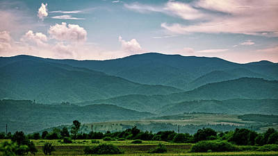 Photograph - Overlapping Mountain Layers #2 - Romania by Stuart Litoff
