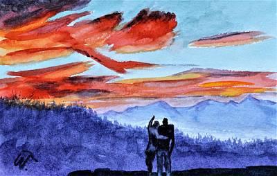 Water Droplets Sharon Johnstone - Overlook Sunset by Warren Thompson