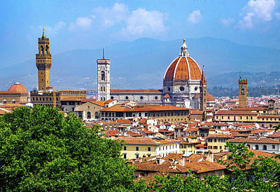 Photograph - Overlooking Florence by Carolyn Derstine
