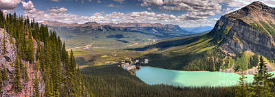 Photograph - Overlooking Lake Louise And The Chateau by Adam Jewell
