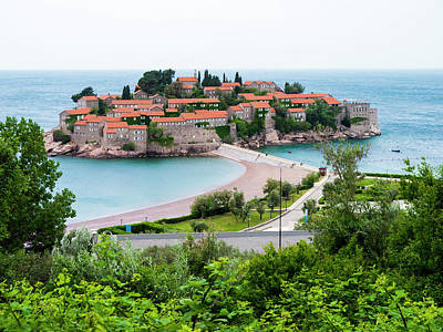 Photograph - Overlooking Sveti Stefan by Rae Tucker