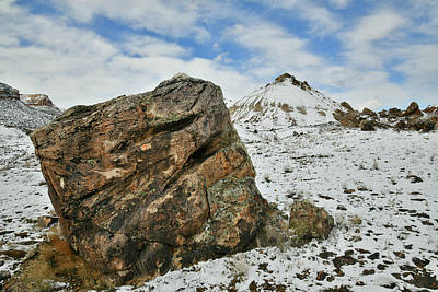 Photograph - Overnight Snow Covers Ruby Mountain by Ray Mathis