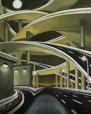Painting - Overpassed 16 X 20 by Tommy Midyette