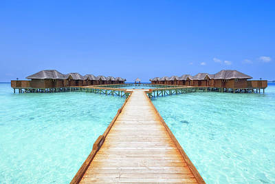 Photograph - Overwater Bungalows Boardwalk by Cinoby