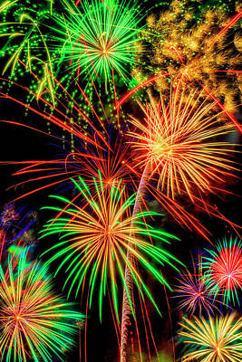 Photograph - Overwhelmed By Fireworks by Garry Gay