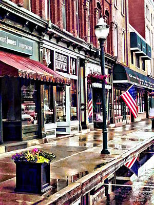Photograph - Owego Ny - American Flag And Reflections by Susan Savad