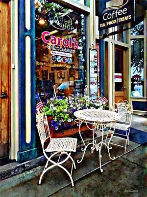 Photograph - Owego Ny - Coffee Shop by Susan Savad